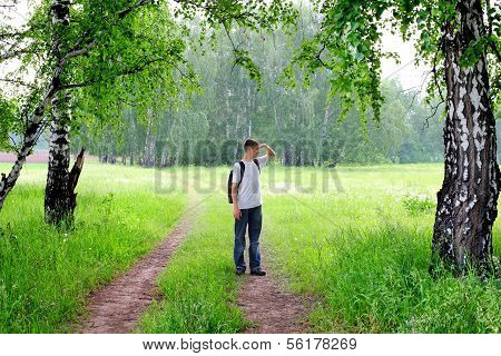 Teenager In The Forest