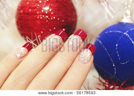 Beautiful winter manicure.