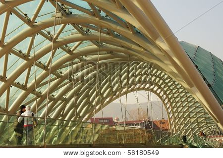 Peace Bridge In Tbilisi