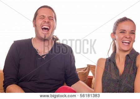 Couple Dying Of Laughter