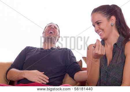 Couple In Laughter