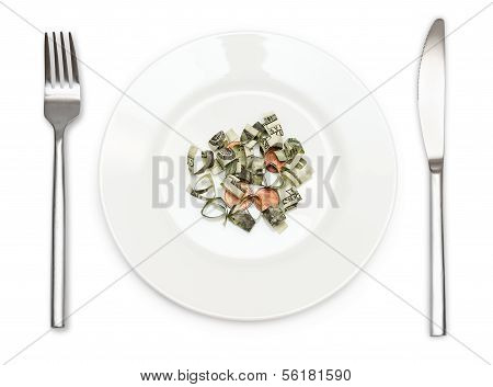 Plate Of Money