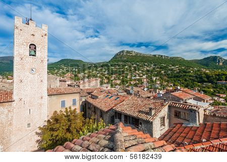 Panoramic view of beautiful small village Vence in France.