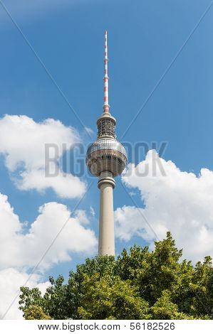 Television Tower Berlin At A Bright Summer Day