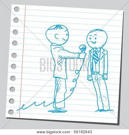Interviewing businessman