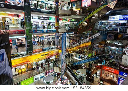 Inside The Pantip Plaza, The Bigges Electronic And Software Shopping Complex In Thailand