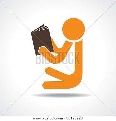 Book reading concept stock vector