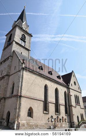 St. Cantianus Church In Kranj, Slovenia
