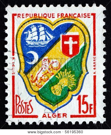 Postage Stamp France 1959 Arms Of Algiers