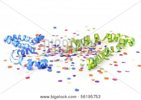 A decoration for a typical party atmosphere. All isolated on white background.
