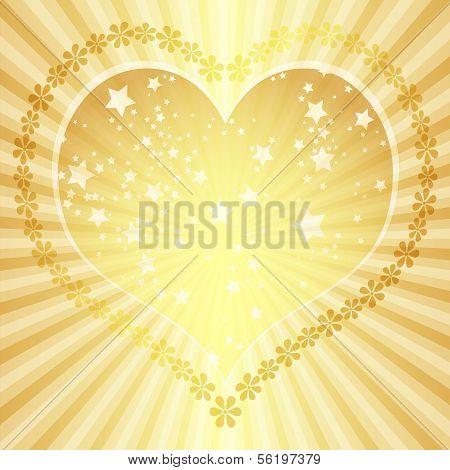 Golden Valentine Frame