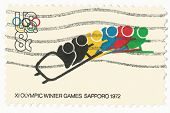 United States Stamp of the 1972 Winter Olympics