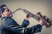 picture of sax  - Playing the Sax - JPG