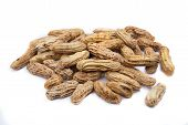 image of groundnut  - Boiled Peanuts or groundnuts on White Background - JPG