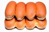 stock photo of hot dogs  - hot dog buns - JPG