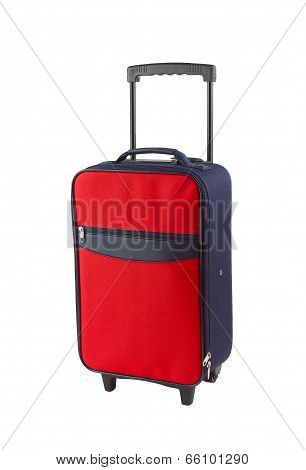 Red and blue luggage