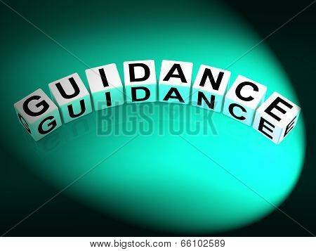 Guidance Dice Show Guiding Advising And Directing