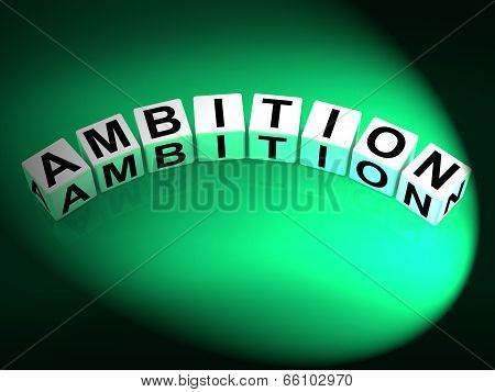 Ambition Dice Show Targets Ambitions And Aspiration