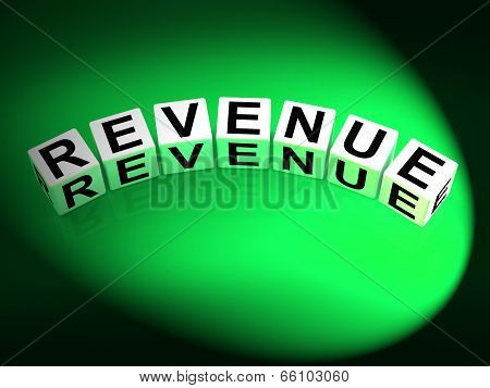 Revenue Dice Mean Finances Revenues And Proceeds
