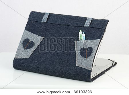 Laptop fabric cover case