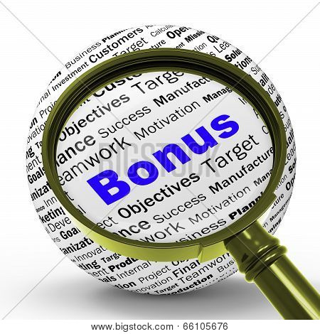 Bonus Magnifier Definition Shows Financial Reward Or Benefit
