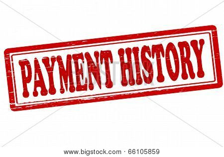 Stamp with text payment history inside vector illustration
