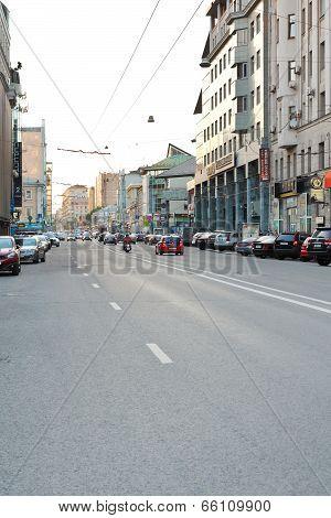 Novoslobodskaya Street In Moscow, Russia
