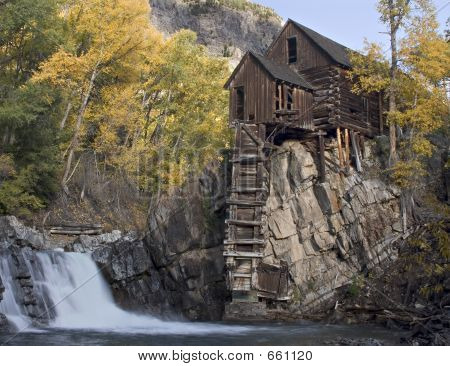 Crystal Mill In Fall