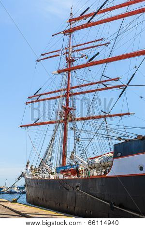Moored Tall Ship