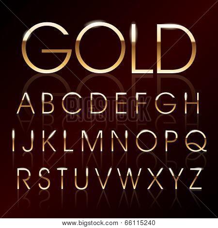 Vector Gold Font