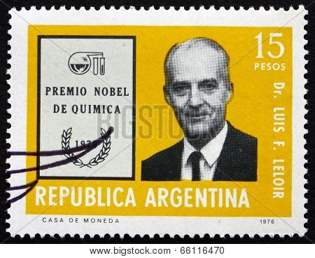 Postage Stamp Argentina 1976 Luis F. Leloir, Physician