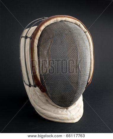 Fencing Mask On A Black Background