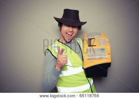 Cowboy Builder With Tool Box