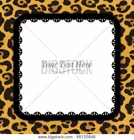 Leopard Print Square Frame