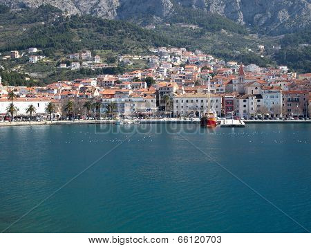 Makarska City From The Sea