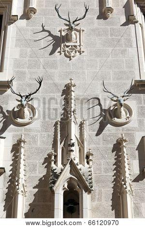 Heads Deer As Decoration