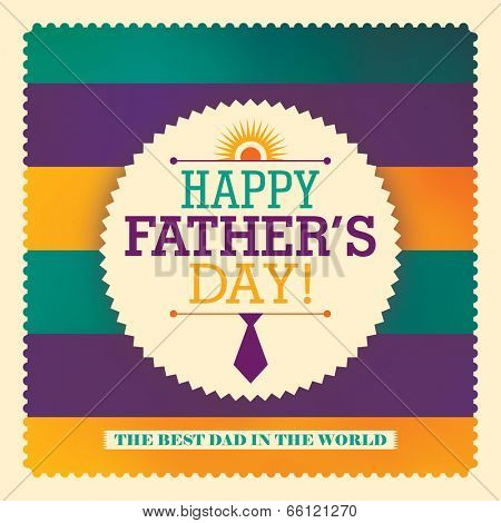 Father's day sticker design. Vector illustration.