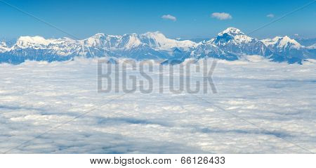 Aerial View Of Himalayas Range - Dhaulagiri Himal - Nepal