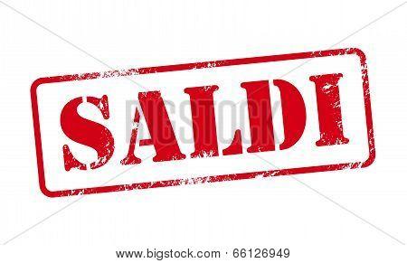 Saldi - Italian Sale Stamp