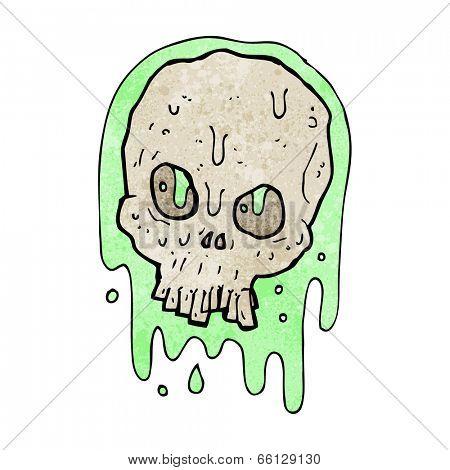 cartoon slimy skull