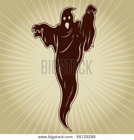 Vintage Ghost Silhouette