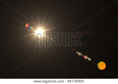 digital lens flare warm