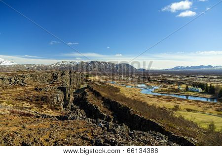 Thingvellir, the oldest parliament in the world, Iceland