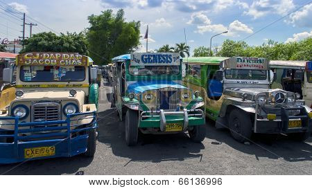 Angeles City, Jeepneys Parking.