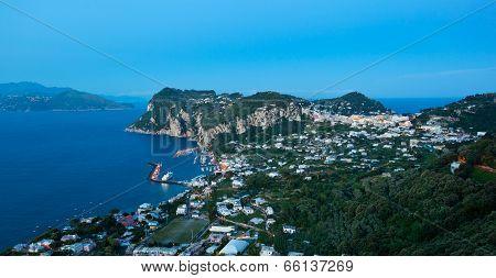 Marina Grande By Night, Capri Island, Italy