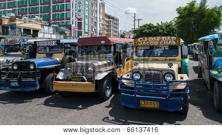Jeepneys Parking in Angeles City.