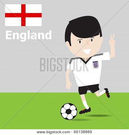 Cute England Soccer Player.