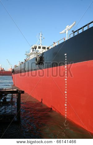 Ship In A Shipyard Dock
