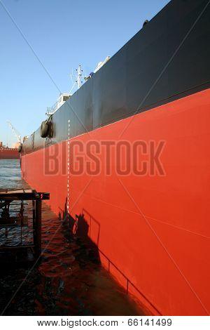 Ship In A Shipyard Dock
