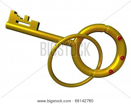 Gold Key Isolated